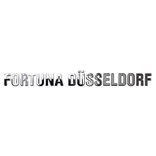 fortuna duesseldorf aufkleber Fortuna Düsseldorf 3D Chromaufkleber Schriftzug