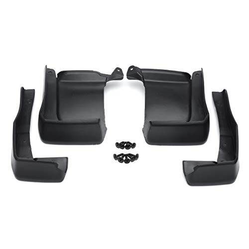 JenNiFer 973772 Black Front Rear Car Splash MudGuards Flaps Fender für Honda Accord 4 Tür 13-17 (16 Accord Felgen Honda)