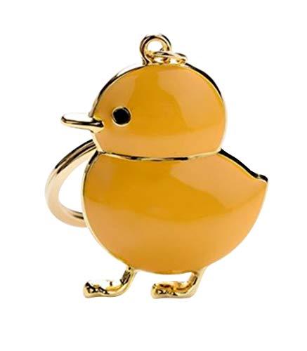 Schlüsselanhänger, Schmuck Beutel Küken gelb emaillierten Stahl.