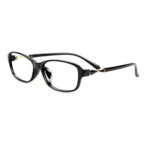 HQMGLASSES Lesebrille für Damen verfärbte ovale Sonnenbrille, ultraleichte Fassung TR90 HD asphärische Kunstharzlinse UV-UV400 +0,5 bis +3,0,Black,+3.00