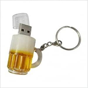 8GB FANCY DESIGNER BEER MUG KEYCHAIN USB PENDRIVE