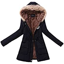 Parka cálida Casual chaqueta mujer con capucha de piel sintética