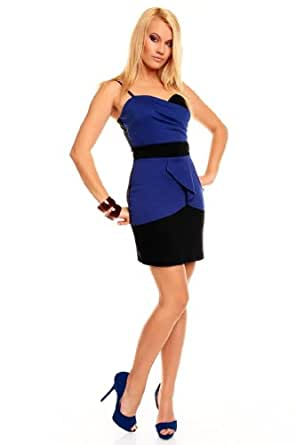 celebrity style formal Blue black dress Sleeveless mini evening cocktail club party gradation office church outfit posh slim bandage dress pencil party wedding (14)