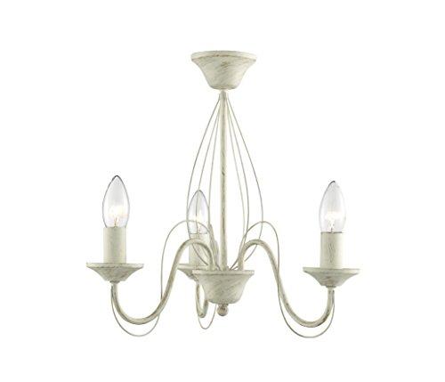 Lighting Collection 700004E14Deckenleuchte, 60 Watt, mit kleiner Edison-Schraube, Cremefarben/Golden