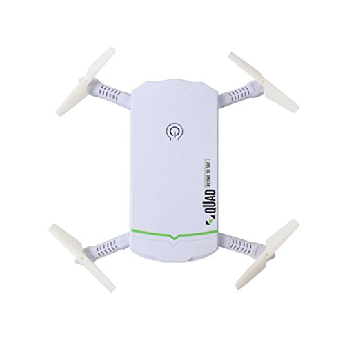 Mini Foldable RC Drone FPV Wifi RC Quadcopter Distant Management Drone with HD 2.4G 6Axis HD Digicam RC Helicopter (White)