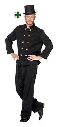 (Karneval-Klamotten Schornsteinfeger-Kostüm Herren Karneval Kaminkehrer Herren-Kostüm mit Schornsteinfeger-Hut Größe 54)