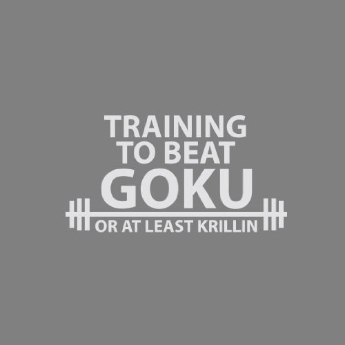 DBZ: Training to Beat Goku - Herren Langarm T-Shirt Grau Meliert