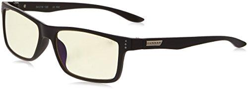 Gunnar Vertex Onyx LOUPE +1.00 Lunette Anti Fatigue de Protection Contre UV Noir