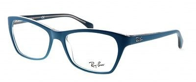 Rayban Unisex Acetate Blue Rectangle Full Rim Frame (Rayban-RB5298-5391)  available at amazon for Rs.5453