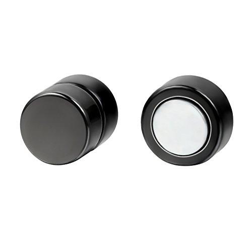 JewelryWe 6mm Paire Boucle d'oreille Punk Rock Magnétique Clips Pince Non Piercing Sans Trou Rond Homme Femme