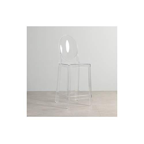 XINGPING-Furniture Nordic Net Red Transparent Barhocker Europäische Hohe Fußschemel Teufel Barhocker Mode Einfachen Kristall Stuhl Acryl Barhocker (Farbe : Weiß) - Weiße Acryl-barhocker