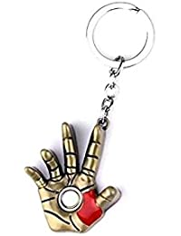 Key Era Avenger Hero Iron Man Hand Bronze Colour Metal Keychain & Keyring For Bikes, Cars, Bags, Home, Cycle,...