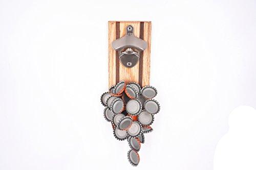 FREE WOLF Wall-Mounted Wohnkultur Magnet Flaschenöffner Bier-Flaschen-Öffner mit Magnet-Fang Ashtree Holz Magnetfalle Kühlschrankmagnet Bottle Opener (Magnet Bier-flaschenöffner)