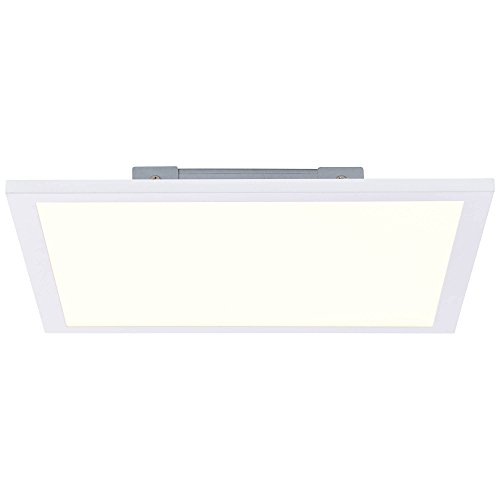 LED Panel Deckenleuchte 30x30cm, 1x 18W LED integriert, 1x 1800 Lumen, 2700K, Metall/Kunststoff, weiß