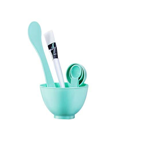 6 in 1 DIY Gesichtsmaske Mixing Tool Kit mit Gesichtsmaske Schüssel Stock-Spachtel-Gesichtsmaske Pinsel Gesichtspflege DIY Hausgemachte Maske Make up Werkzeuge (Grün) (Hausgemachte Werkzeuge)