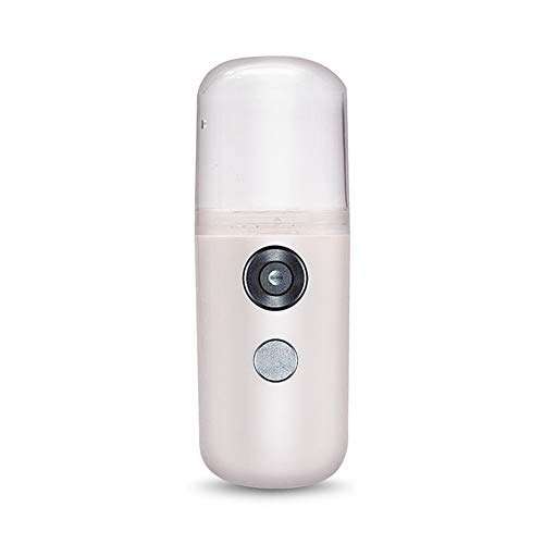 Mini Nano Spray Luftbefeuchter Face Steamer Handheld Beauty Sprayer USB wiederaufladbar, Weiß