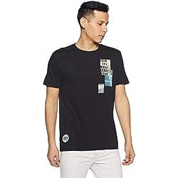 Levi's Men's Printed Regular Fit T-Shirt (28771-0181_Black_M)