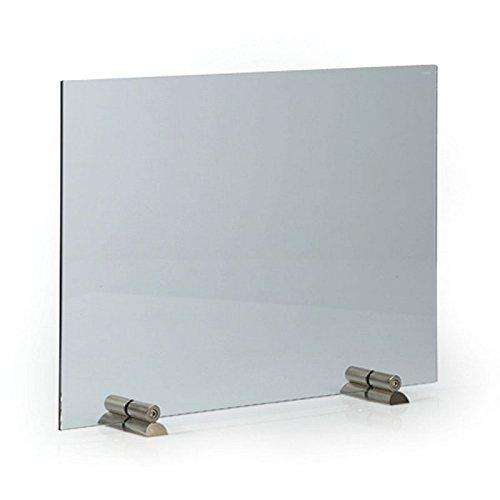 Parascintille in vetro per camino, diritto, senza apertura per le mani, 65x 45cm