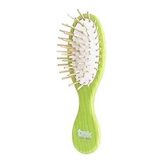 Tek hellgrüne kleine ovale Haarbürste - Handgemacht in Italien