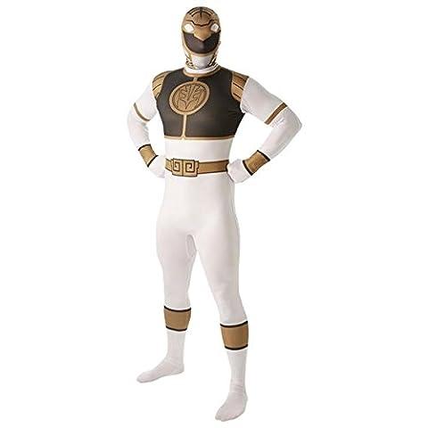 Mighty Morphin Power Rangers White Ranger - Adult 2nd Skin Costume Men : X LARGE (Mighty Morphin White Ranger Kostüm)