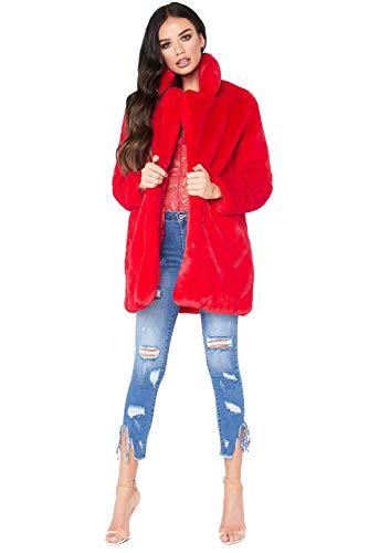 Giacca pelliccia ecologica donna moda caldo morbido cappotto reversibile giubbotto autunno inverno blazer aperto cardigan manica lunga giacche tumblr ragazza capispalla taglie comode trench overcoat