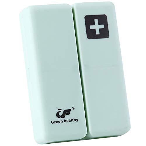 Tragbare Medikamentenbox faltbar magnetisch Supplement Pillendose Organizer Tablettenbox Pillendose Pillendose Medikamentenbox -