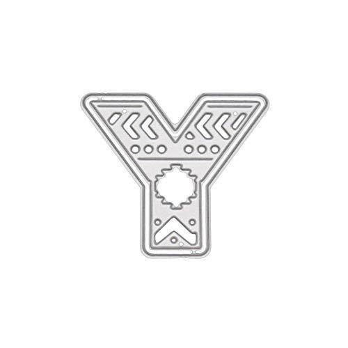 Xmiral Stanzmaschine Schablonen Stanzformen Stanzen Schablonen,26 englische Großbuchstaben(Y)