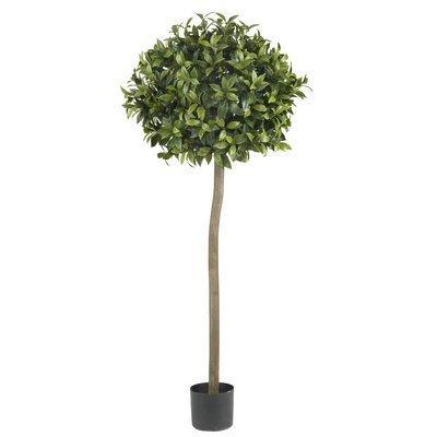Nearly Natural 5' Sweet Bay Ball Topiary Silk Tree by Nearly Natural - Ball Topiary Silk