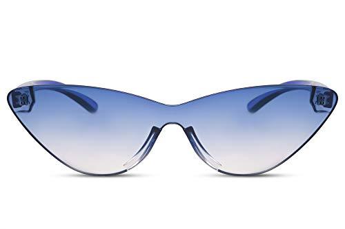 Cheapass Sonnenbrille Cat-Eye Blau-es Verlaufsglas UV-400 Exklusiv-e Designer-Brille Schmal Plastik Damen