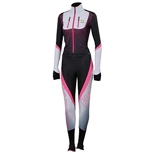Karpos Race Suit Women - White/Black/pink Fluo