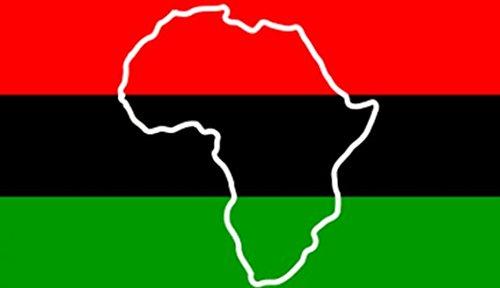 UB Fahne / Flagge Afrika mit Landesumriss Karte 90 cm x 150 cm Neuware!!!