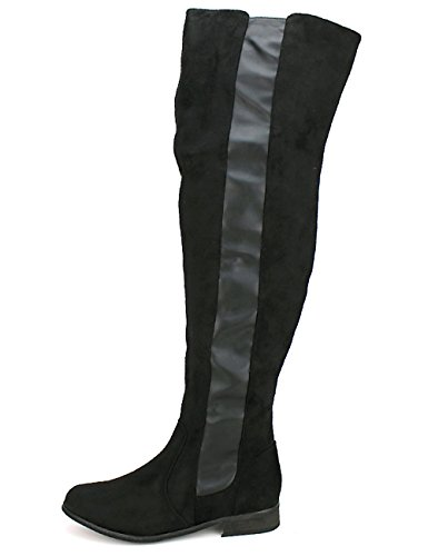 Cendriyon Cuissarde Noire Lexy Moda Chaussures Femme