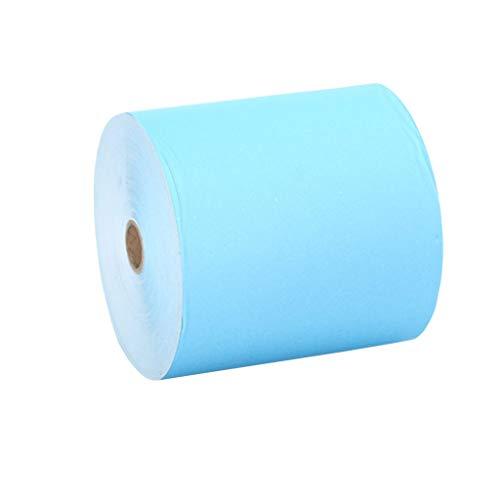 10 Rollos 80x80 Papel Térmico Color Azul
