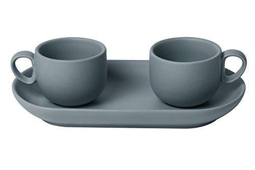 Bitossi Home Set 2-teilig Tasse Kaffee + Tablett bis grau