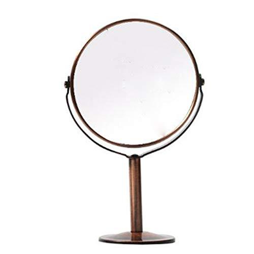 GWFVA Health UK Spiegel - Red Bronze Hochauflösender Kosmetikspiegel Make-up Desktop Schminkspiegel Doppelseitig Verstellbarer runder Spiegel auf Fußständer Willkommen