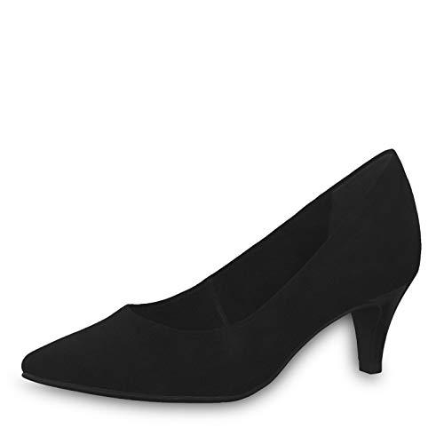 Tamaris Damen Pumps 22475-23, Frauen KlassischePumps, Court-Shoes Absatzschuhe Abendschuhe stöckelschuhe Damen Frauen weibliche,Black,37 EU / 4 UK