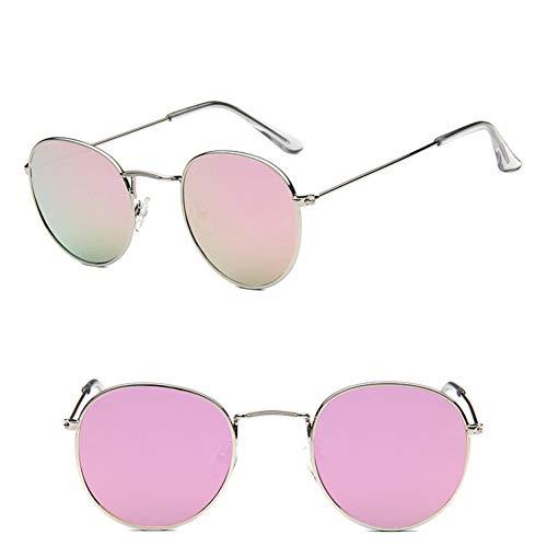 AAMOUSE Sonnenbrillen Mode Metall Runde Sonnenbrille Frauen Spiegel Klassische Vintage Street Beat Brille Männer Gläser Fahren Oculos