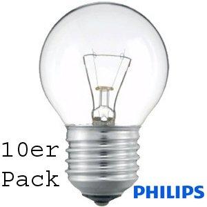 10er Pack Philips TROPFEN/ball 40W klar E27 SINGLE