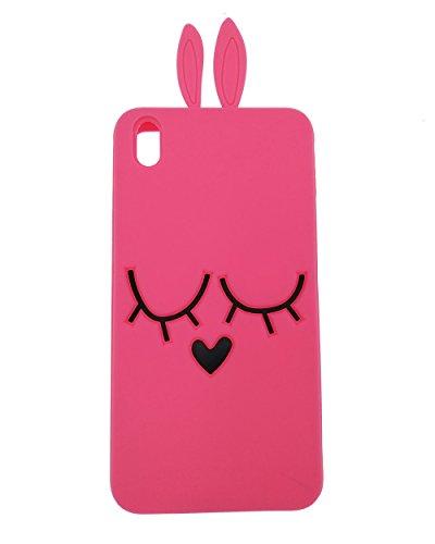 HTC Desire 816 Hülle, BENKER Hochwertig Schlagfeste und Kratzfeste Weich Silikon Kreativ 3D Cartoon Telefon Fall - Rose Red Rabbit Htc Desire 816 Cover