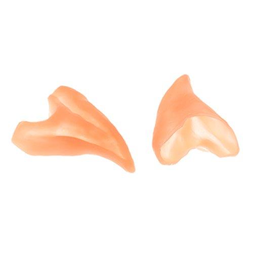 Ohren Machen Spitzen Kostüm (1 Paar Halloween Requisiten Ohren Dekoration Spitzen Fee Elf Cosplay)