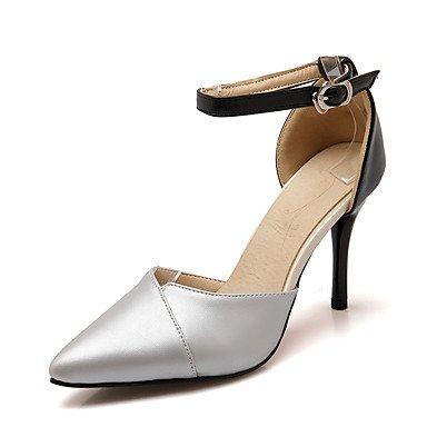 LvYuan Sandalen-Hochzeit Kleid Party & Festivität-Kunstleder-Stöckelabsatz-D'Orsay und Zweiteiler Knöchelriemen Club-Schuhe-Rosa Silber Gold Pink