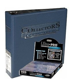 Ultra Pro 3-Ring Collectors Album Blue + 100 9-Pocket Platinum Pages - Magic: The Gathering (Pro 9 Pocket)