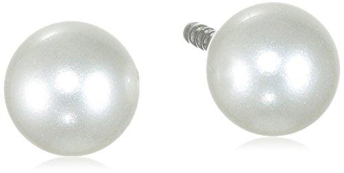 Pure Grey Damen-Ohrstecker Titan weiß 17000