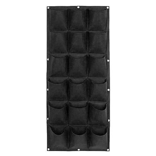Koojawind Pflanzen Taschen Wandbehang Garten Pflanzer Outdoor Indoor Vertikale BegrüNung Wachsen Taschen-Wand Vertikale Blume Pflanze Wachsen Topf Tasche Pflanzer (Interior Tasche Flache)