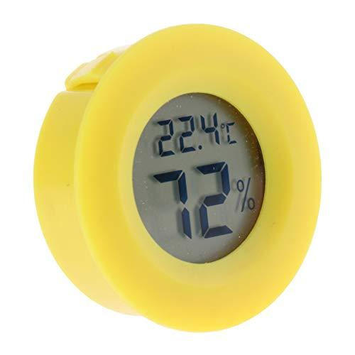 perfk Digitales Thermo-Hygrometer Temperatur Luftfeuchtigkeit Messgerät für Terrarium - Gelb