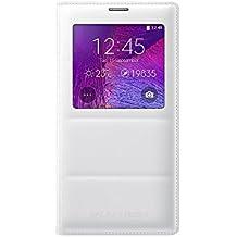Samsung S-View - Funda oficial oficial oficial para Samsung Galaxy Note 4, blanco