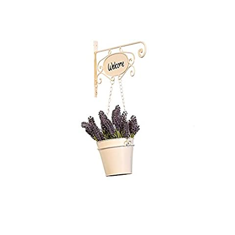 Welcome Handmade Decorative Wall Hanging Bucket Home Garden Wall with