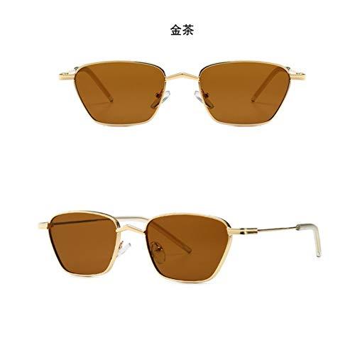 YHMC Street Shot Retro-Brille Sonnenbrille Grau Kleinen Rahmen Sonnenbrille Koreanische Version Golden Tea