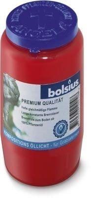 BOLSIUS Öllicht Nr.3 100% aus Pflanzenöl rot