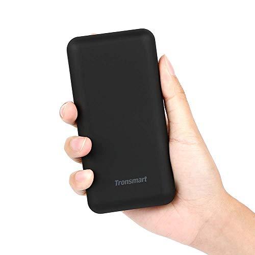 Tronsmart PB20 20000mAh Powerbank, Kompakt Externer Akku, Hohe Kapazität 2-Port 5V/3A Ausgang Ladegerät mit LED-Statusanzeige, kompatibel mit iPhone, iPad, Samsung Galaxy und Weitere-Schwarz
